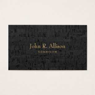Cork business cards templates zazzle cool cork sommelier wine expert business card reheart Choice Image