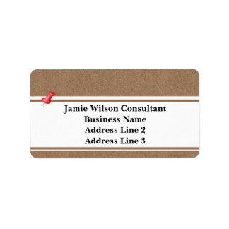 Cool Corkboard Address Labels