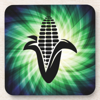 Cool Corn on the Cob Beverage Coaster