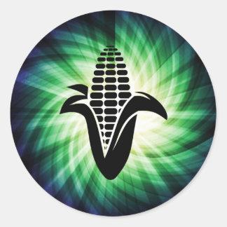 Cool Corn on the Cob Classic Round Sticker