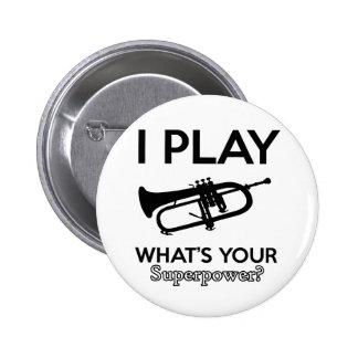 cool cornet design button