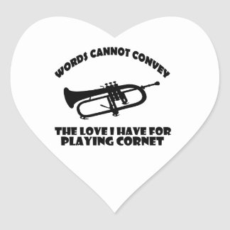 cool Cornet  designs Heart Sticker
