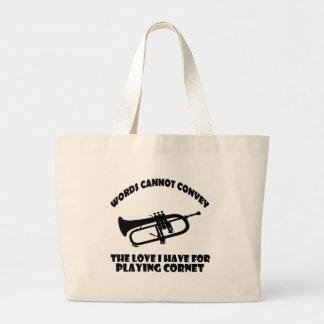 cool Cornet  designs Large Tote Bag