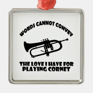 cool Cornet  designs Metal Ornament