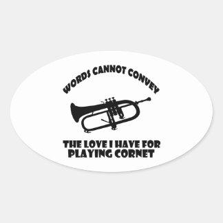 cool Cornet  designs Oval Sticker
