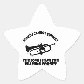cool Cornet  designs Star Sticker