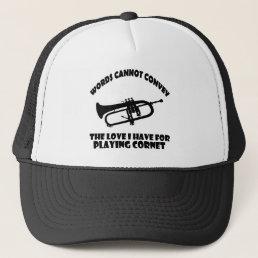 cool Cornet  designs Trucker Hat