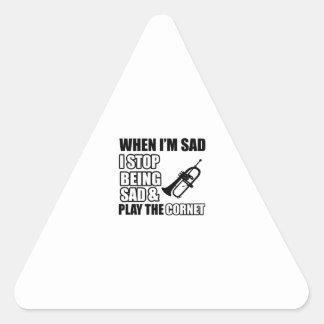 Cool cornet Lovers Designs Triangle Sticker