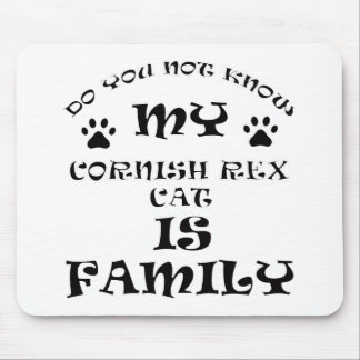 Cool CORNISH REX CAT designs Mouse Pad