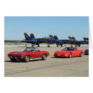 Cool Corvettes And Blue Angles Card