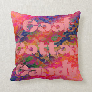 Cool Cotton Candy Throw Pillow