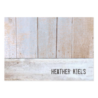 Cool Country Rustic Reclaimed Wood Large Business Card