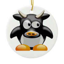 Cool cow - Cool Cow Ceramic Ornament