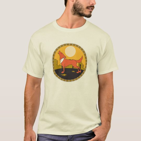cool coyote circle design T-Shirt
