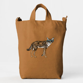 Cool Coyote with Sunglasses Duck Bag