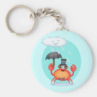 Cool Crab Basic Round Button Keychain