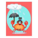 Cool Crab Postcard