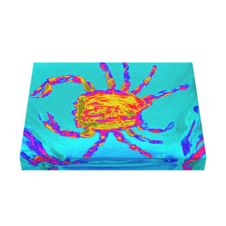 Cool Crab Undersea Art Canvas Print