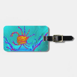 Cool Crab Undersea Art Luggage Tag
