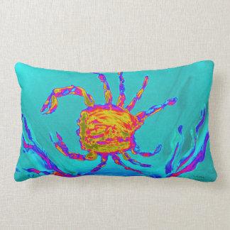 Cool Crab Undersea Art Lumbar Pillow