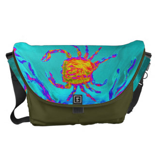 Cool Crab Undersea Art Messenger Bag