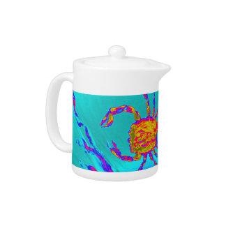 Cool Crab Undersea Art Teapot