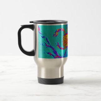Cool Crab Undersea Art Travel Mug