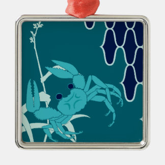 COOL crabs are in the waterside Metal Ornament