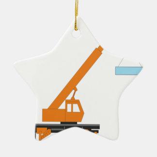 Cool Crane Boy Gift Idea Ceramic Ornament