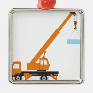 Cool Crane Boy Gift Idea Metal Ornament