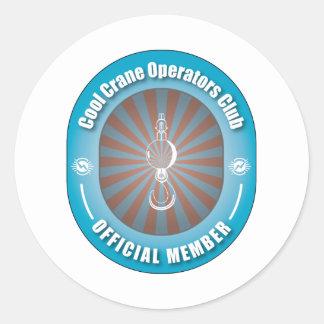 Cool Crane Operators Club Classic Round Sticker