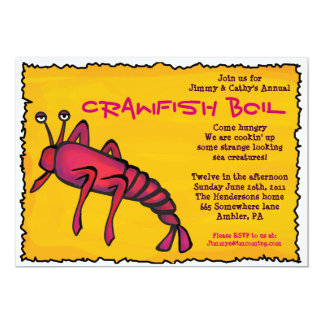 COOL CRAWFISH BOIL Party Invitation