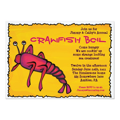 COOL CRAWFISH BOIL Party Invitation | Zazzle