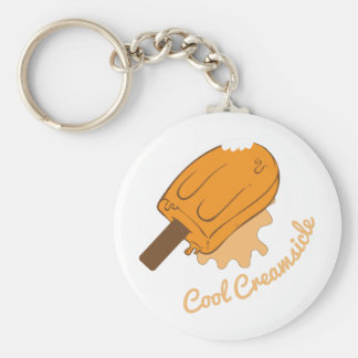 Cool Creamsicle Basic Round Button Keychain