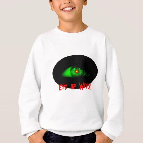Cool Creepy Bro Halloween Eye of Witch Sweatshirt