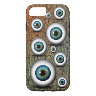 Cool Creepy Weird Blue Eyeballs Iris Eyephone iPhone 8/7 Case