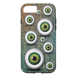 Cool Creepy Weird Green Eyeballs Iris Eyephone iPhone 8/7 Case