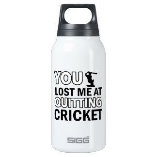 Cool cricketing designs insulated water bottle
