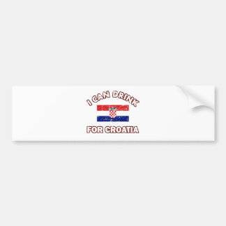 Cool Croatia Drinking Designs Bumper Sticker