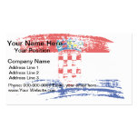 Cool Croatian flag design Double-Sided Standard Business Cards (Pack Of 100)