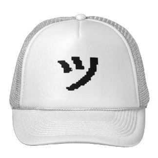 cool crooked smile tsu kana text emote ツ trucker hat