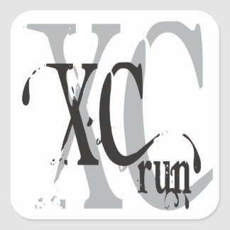 Cool Cross Country Running XC Stickers