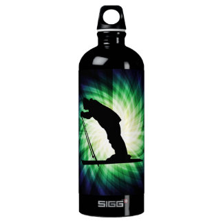 Cool Cross Country Snow Ski Aluminum Water Bottle
