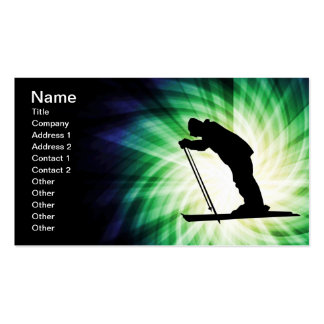 Cool Cross Country Snow Ski Double-Sided Standard Business Cards (Pack Of 100)