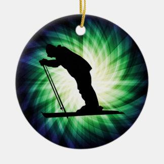 Cool Cross Country Snow Ski Ceramic Ornament