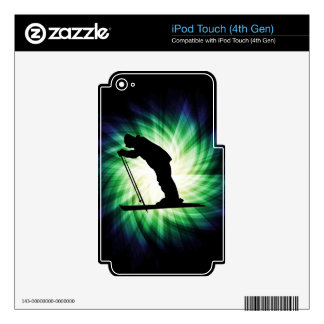 Cool Cross Country Snow Ski Decal For iPod Touch 4G