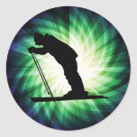Cool Cross Country Snow Ski Sticker