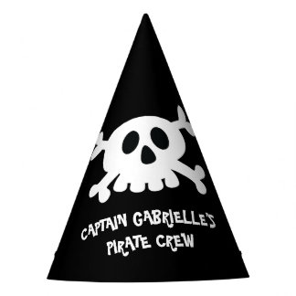 Cool Crossbone Pirate Party Hat