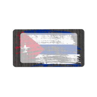 Cool Cuban flag design Label