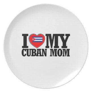 cool Cuban  mom designs Melamine Plate